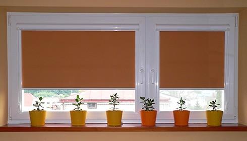 жалюзи рулонные на пластиковые окна цена фото