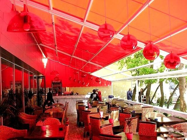 Рулонные шторы для кафе