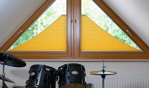 Нестандартные шторы плиссе