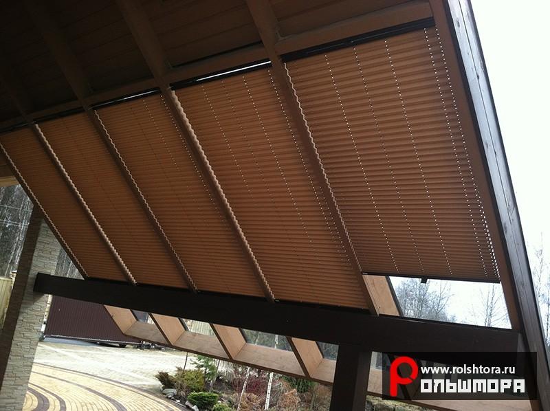 Наши работы - Шторы плиссе на мансардные окна