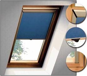 Рулонная штора на мансардное окно